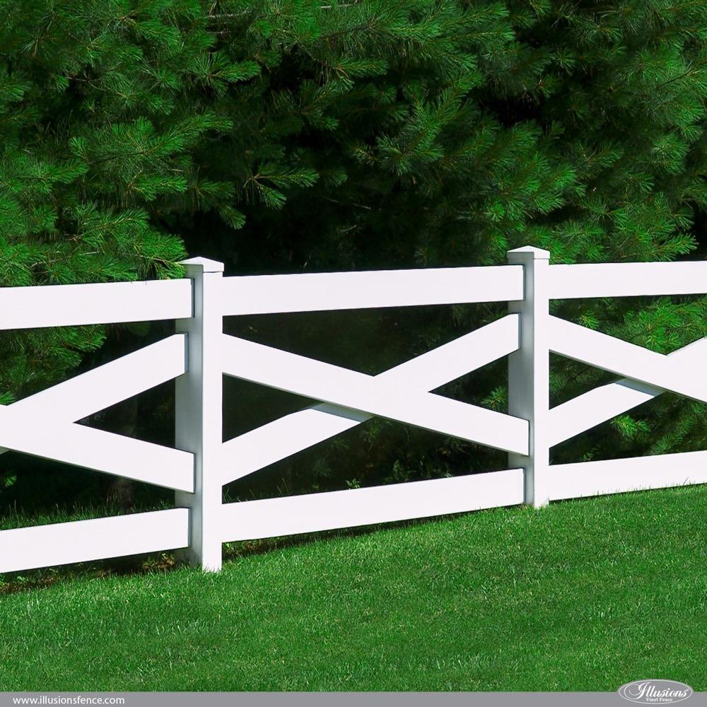 Classic White PVC VInyl Crossbuck Fence
