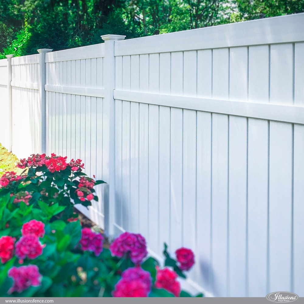 PVC Vinyl Semi-Privacy Fence by Illusions Fence
