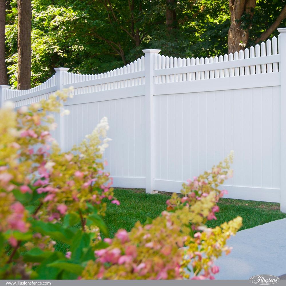 V3707-6 Illusions Privacy PVC Vinyl Fence