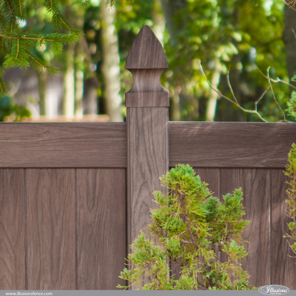 Walnut PVC Vinyl Privacy Fence by Illusions